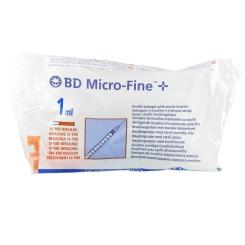 BD Microfine+ Insulin Syringe 1ml 29g 12.7mm