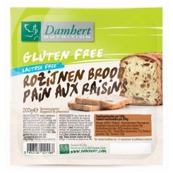 Damhert Pain Aux Raisins Sans Gluten Coupé