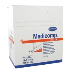 Hartmann Medicomp Drain Sterile Compres 6 Layers 10 x 10cm 421535