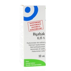 Hyabak Protector Drops 0.15 % Collyre 10 ml
